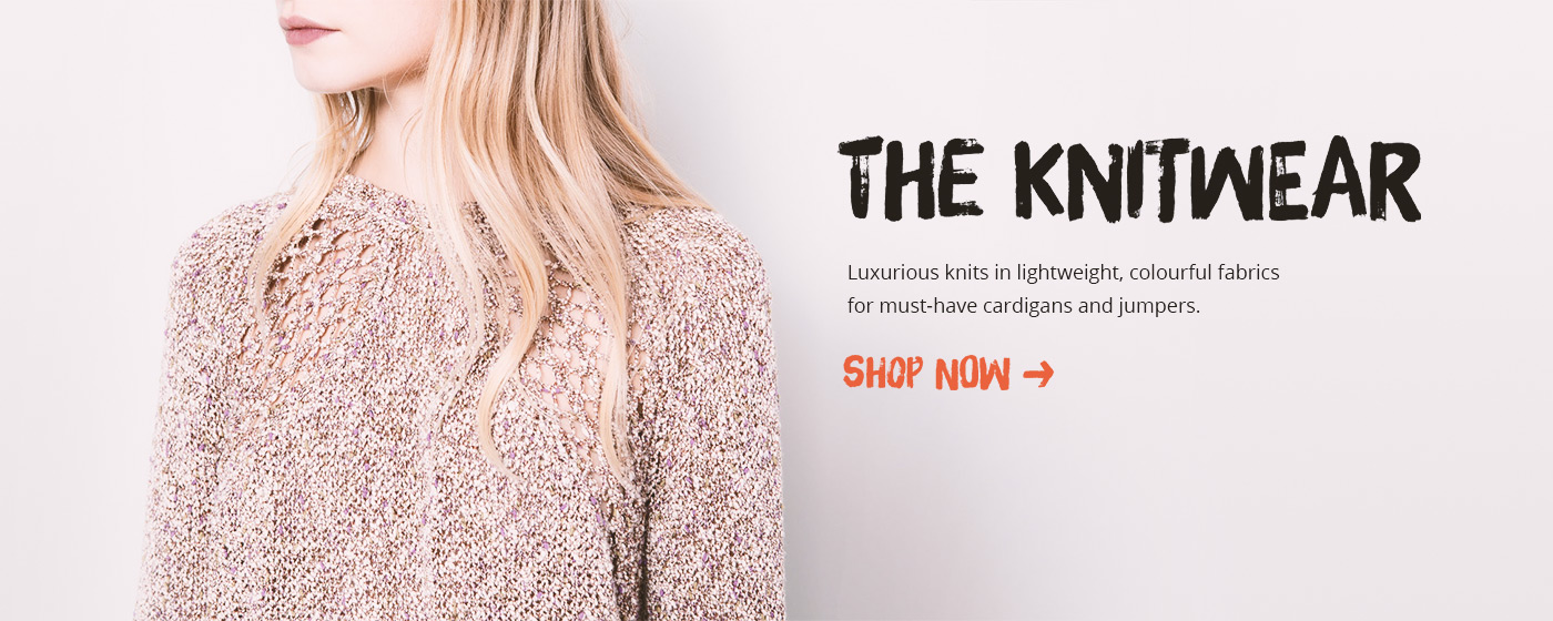 Luxurious knits in lightweight, colourful fabrics for must-have cardigans and jumpers